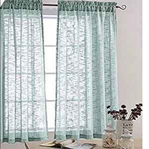 Other - Faux linen 2 panel curtains
